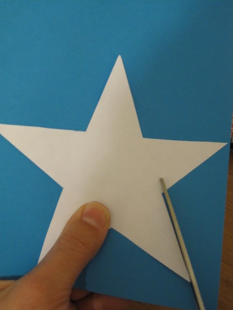 Precise is nice fourth of july 2 d star garland for Paper star cut out template