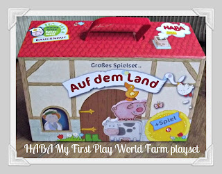 HABA, My First Play World, Farm, play animals, wooden toy, wooden farm, review