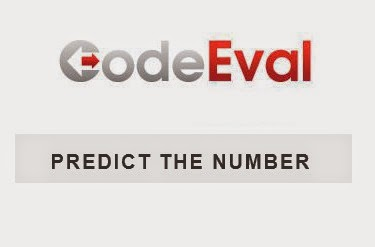CodeEval 1 - Predict The Number
