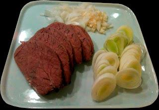 Cocina con Anibal Ternera con puerro ajo y cebolla