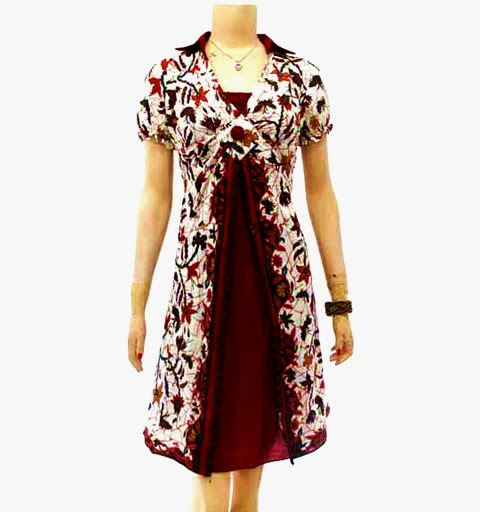 Jual Dress Batik Modern Murah Model Terbaru Online