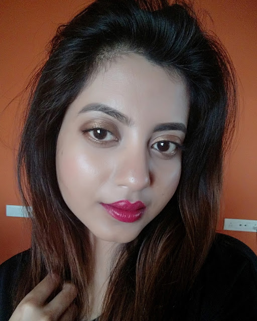 loreal moist matte lipstick lincoln rose review swatch fotd