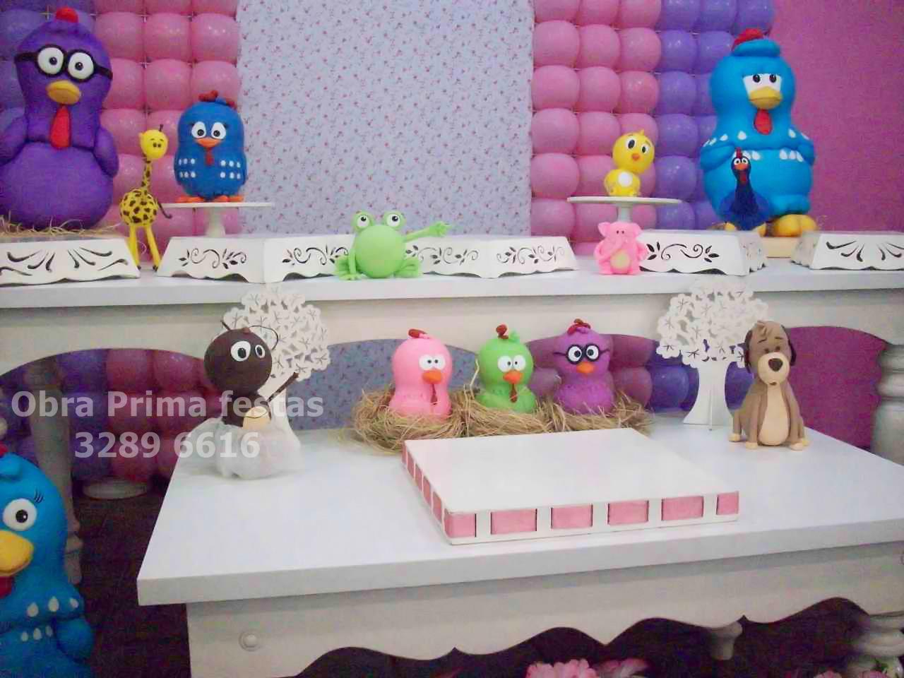 decoracao festa galinha pintadinha rosa: Prima festas e decorações: Festa Galinha Pintadinha Rosa e Lilás
