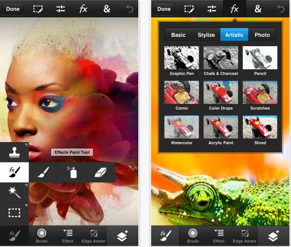 Adobe Photoshop Touch está disponível para iPhone e Smartphones Android