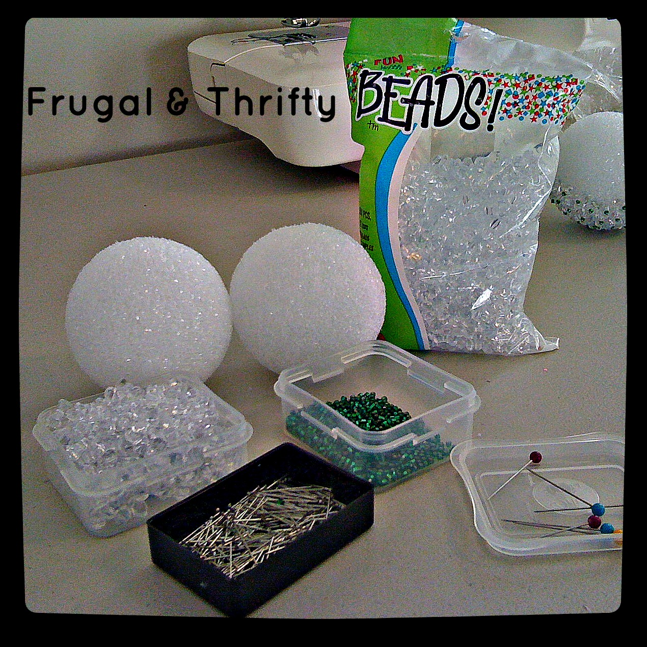 Frugal Thrifty Do It Yourself Christmas Ball Ornaments