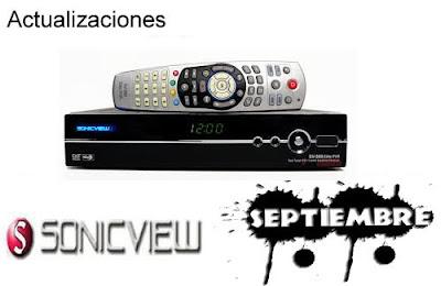 Actualizaciones Sonicview  01 Septiembre 2013