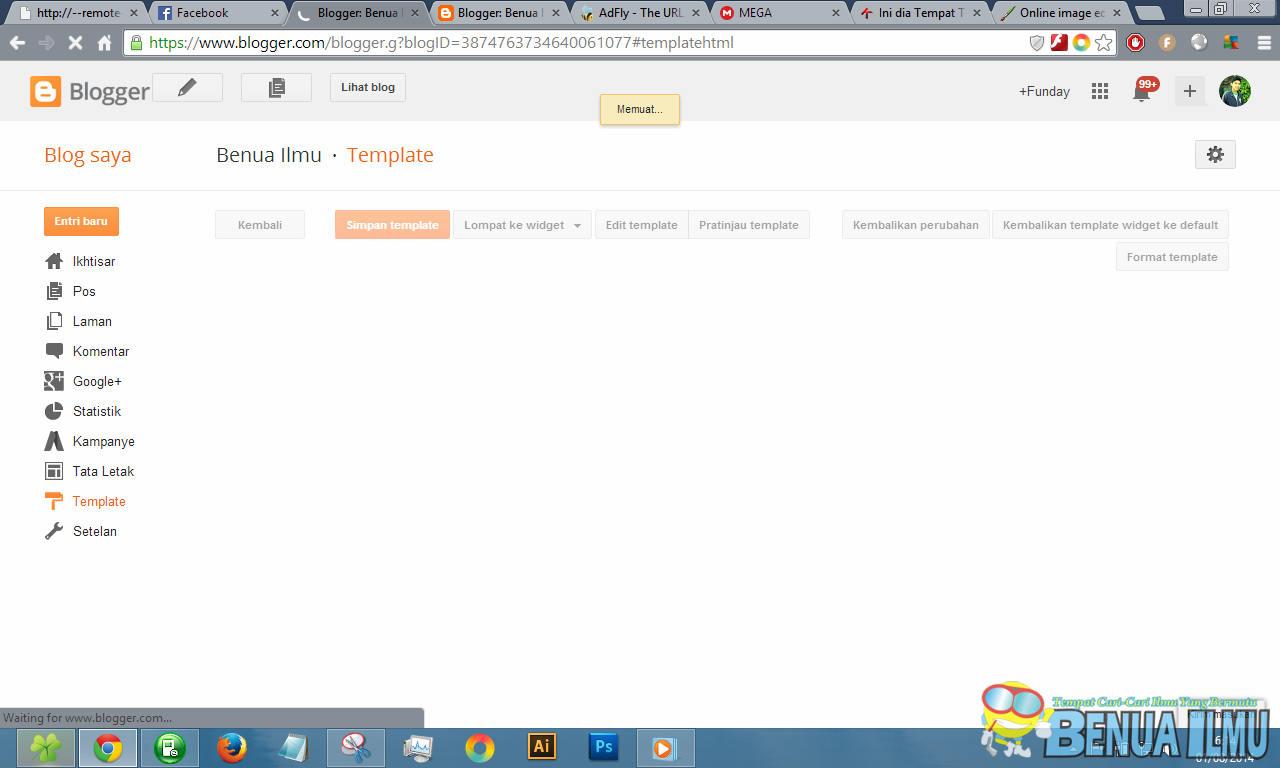 template blog selalu memuat