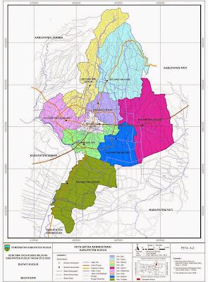 Peta Batas Administrasi Kabupaten Kudus