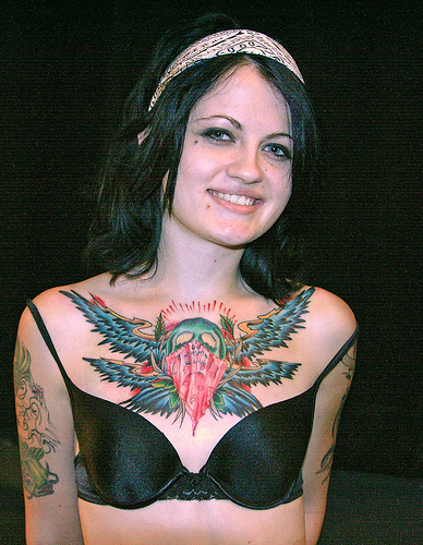 chest tattoos for girls
