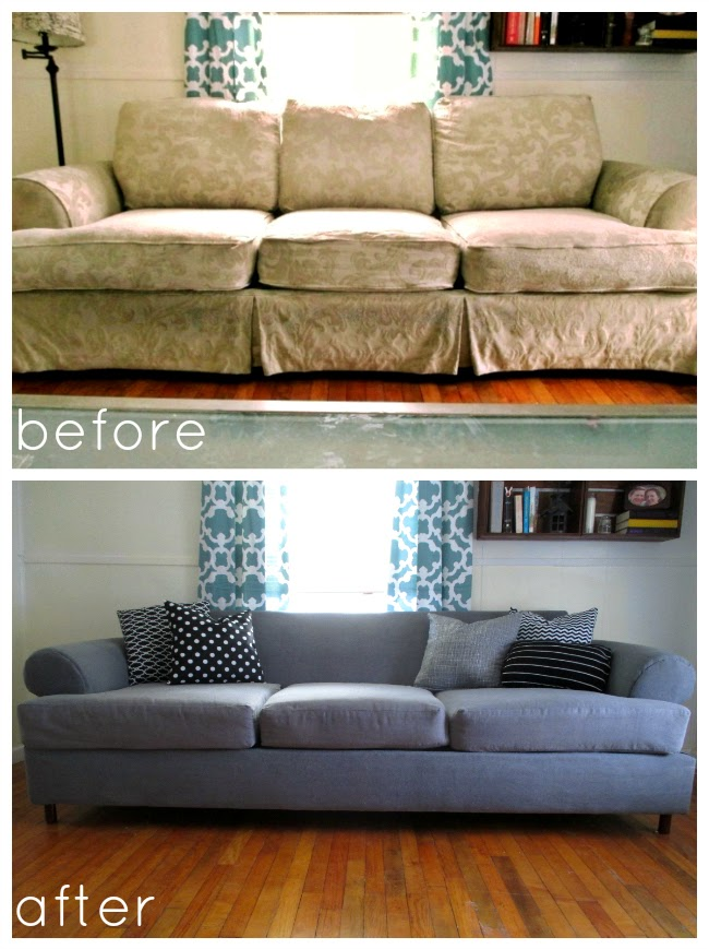 High heels and training wheels diy couch reupholster with Cost to reupholster loveseat