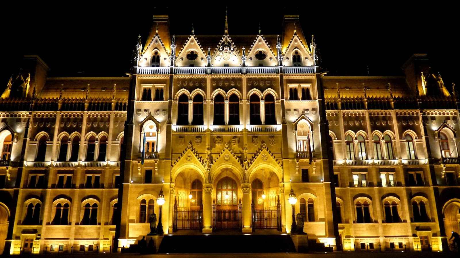 Hungarian Parliament Building Budapest at night