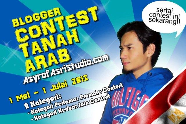 Blogger Contest Tanah Arab oleh AsyrofAsriStudio