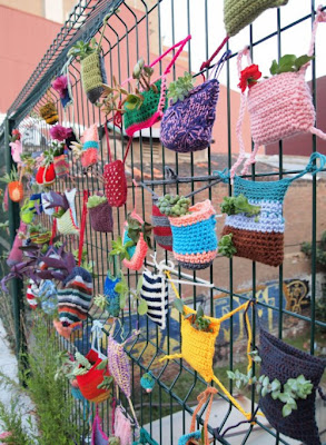 knitted garden pockets