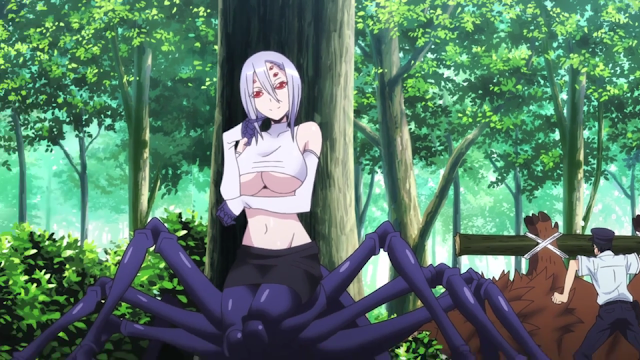 everyday life with monster girls rachnera white top