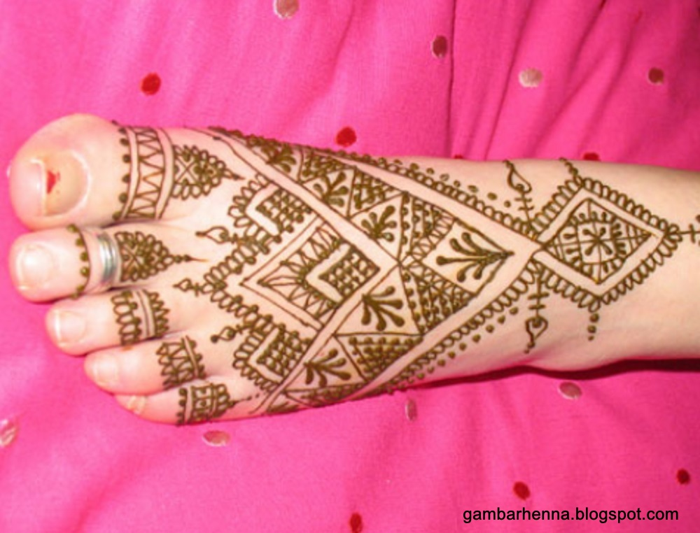 Mehndi Henna Kaki : Henna simple di kaki makedes