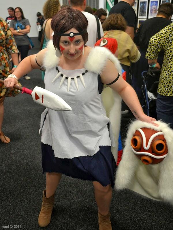 oz comic-con adelaide - princess mononoke