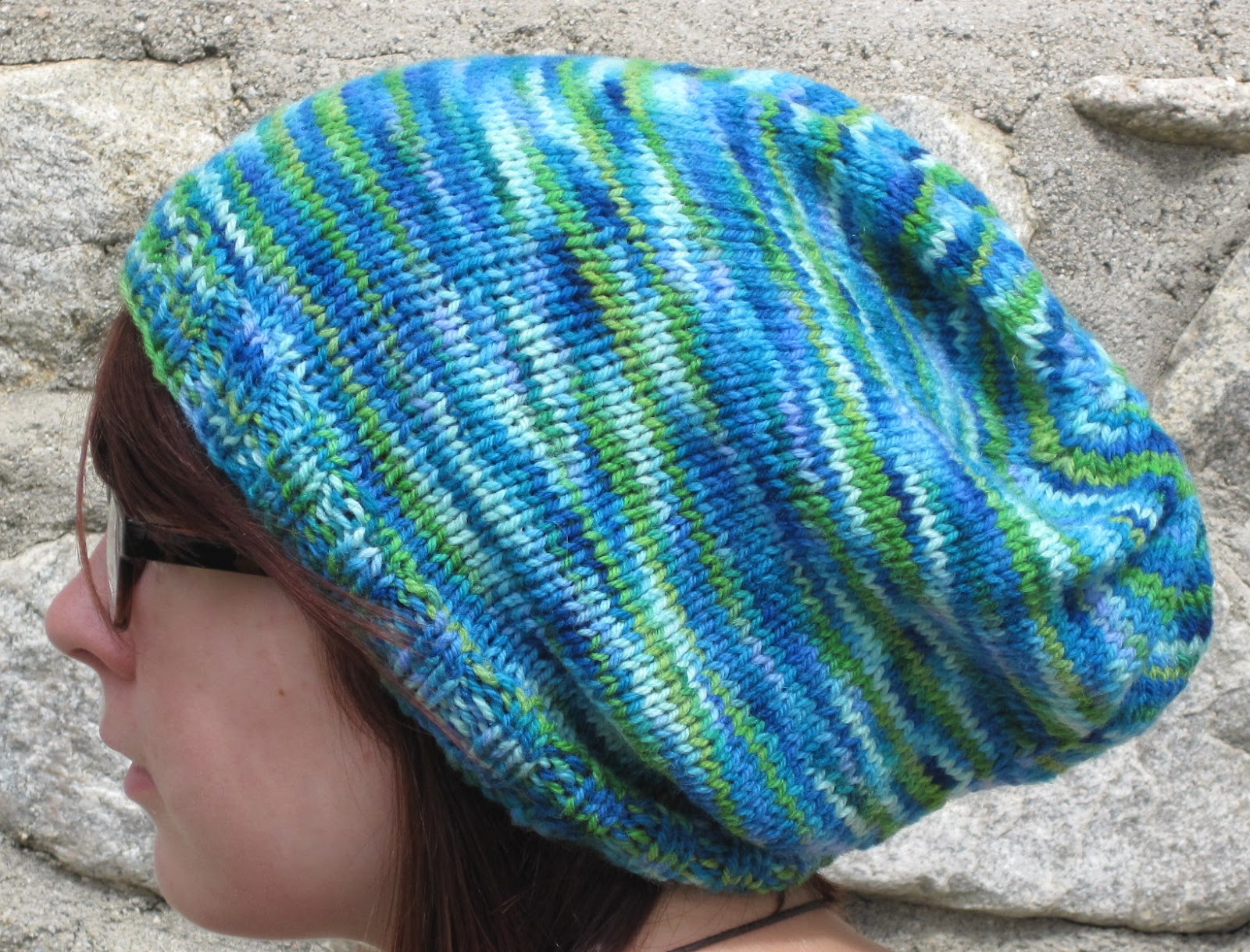 Crafting With Style: Free Pattern for Knit Slouchy Hat