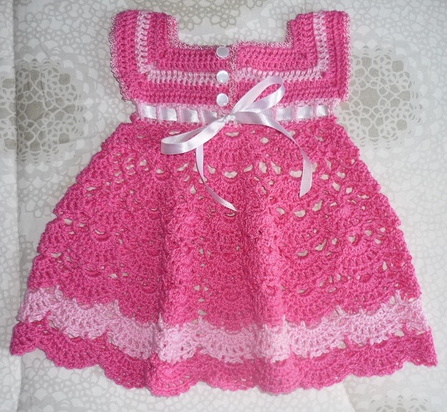 Vestido De Bebe Em Croche