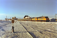 Zug im Bahnhof von Churchill