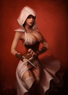 artwork assassin's creed très sexy