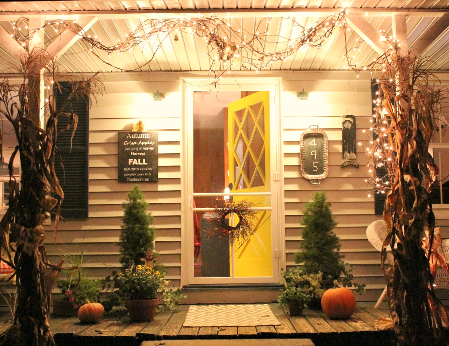 Fall Porch Makeover with Amy