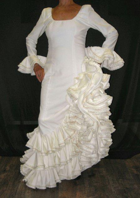 Fashion spain wedding dresses for Flamenco style wedding dress