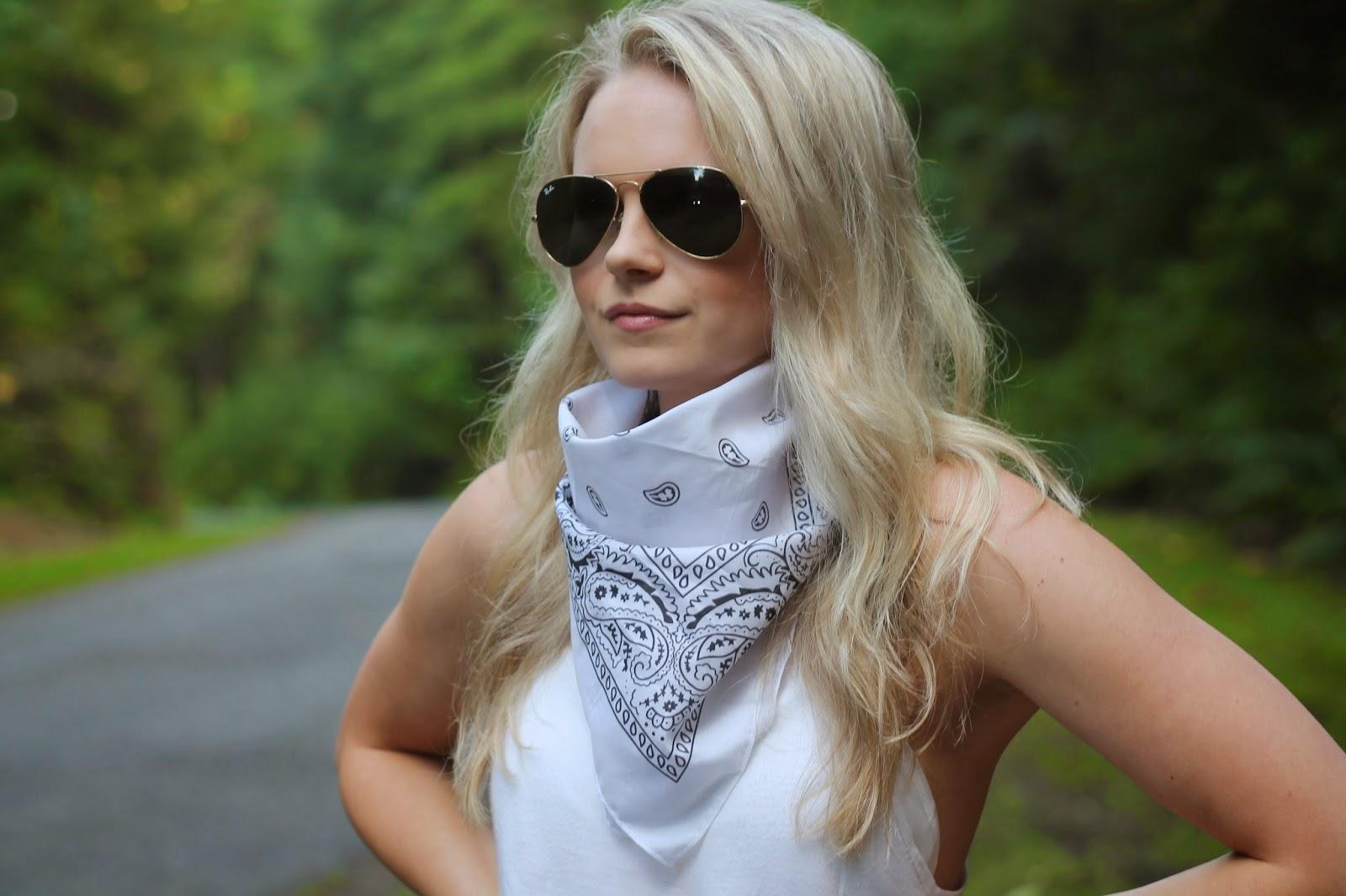 how to style a bandana