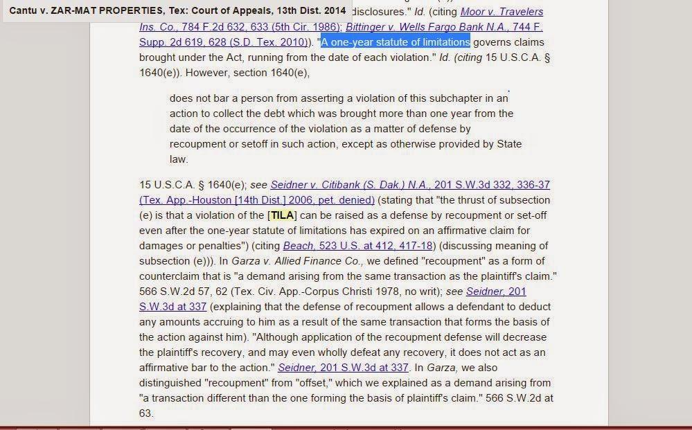 Consumer Debt Litigation (Texas): TILA's implications for ...