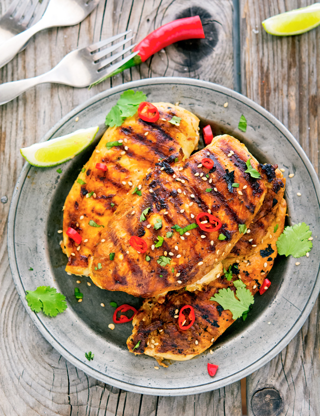 Grilled Soy-Lime Chicken Breasts