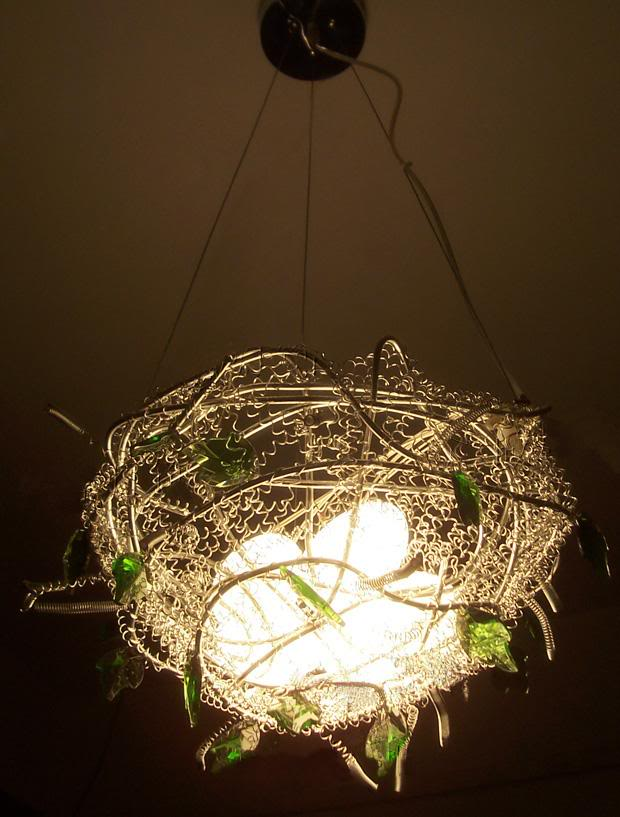 Bird nest chandelier light images light ideas be interiors basket chandelier mozeypictures Image collections