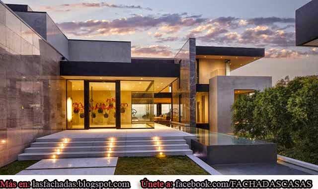 Fachada contempor nea y moderna fachadas de casas y for Garajes originales