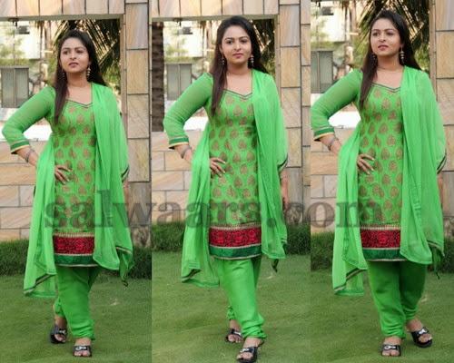 Divya Prabha Green Salwar Kameez