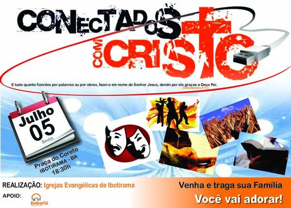 Ibotirama Convite Evento Gospel O Conectados Com Cristo Blog