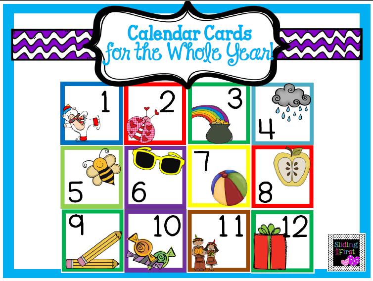 http://www.teacherspayteachers.com/Product/Calendar-Cards-Whole-Year-1356807