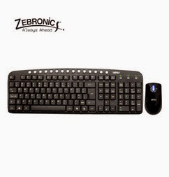 Buy Zebronics JUDWAA560 USB Keyboard and Mouse Combo Rs. 349 only