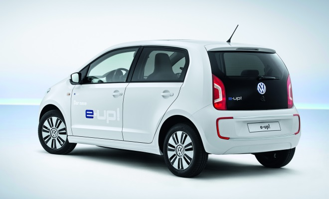Volkswagen e-Up rear view