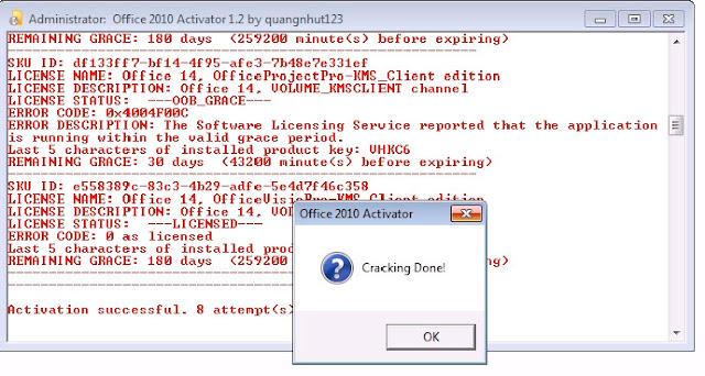 Hướng dẫn crack phần mềm Office 2010