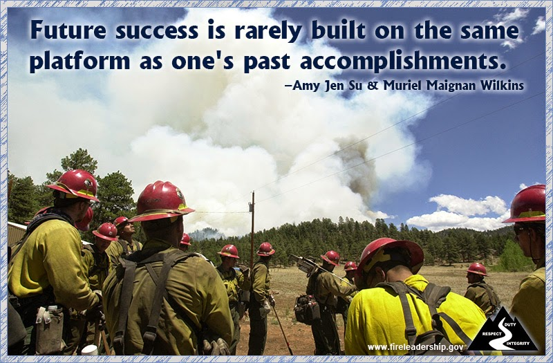 """Future success is rarely built on the same platform as one's past accomplishments."" ~ Amy Jen Su & Muriel Maignan Wilkins"
