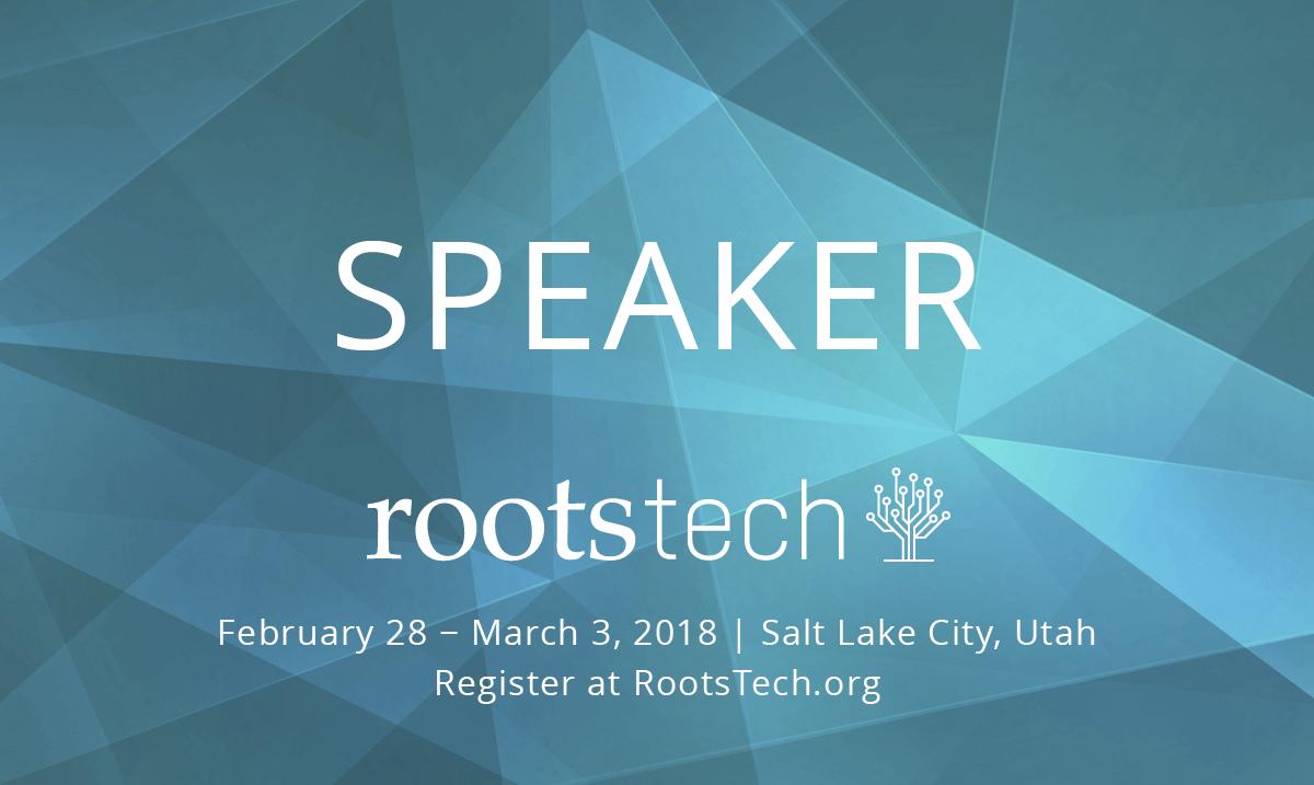 2018 RootsTech Presenter