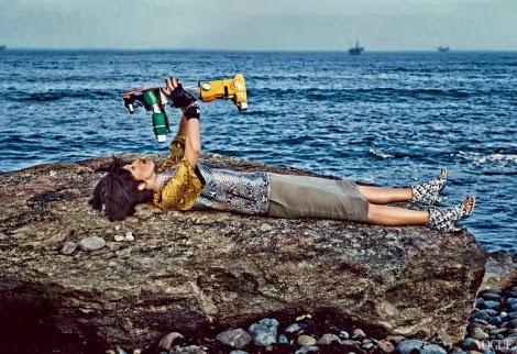 Raquel Zimmermann by Steven Klein for US Vogue