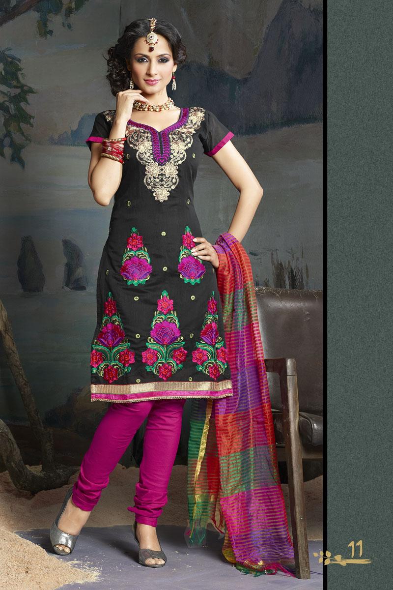 ladies embroidered salwar kameez indian designer suits