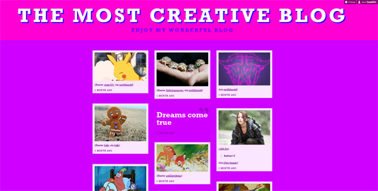 Most creative The Blog