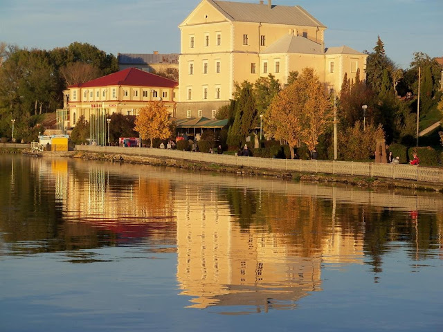 Ternopil Castle on the Lake Front, western Ukraine