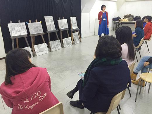 横浜美術学院の中学生向け教室 美術クラブ 言葉からイメージするデッサン『家』10