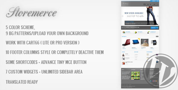 Storemerce - eCommerce WordPress Theme Free Download by ThemeForest.