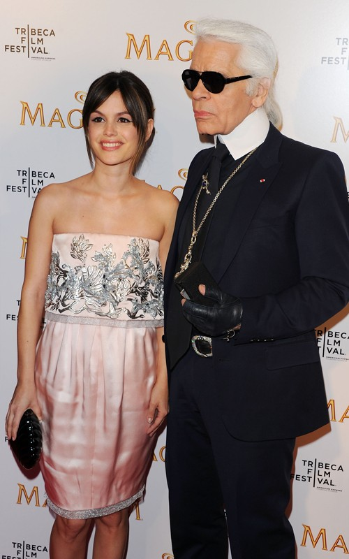 Karl Lagerfeld And Rahel Bilson Promote &quot;Magnum Ice Cream&quot; At The Tribeca Film Festival