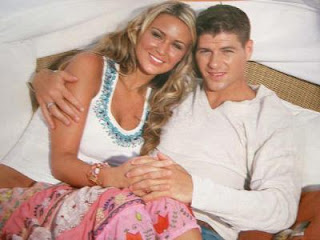Steven Gerrard with Wife