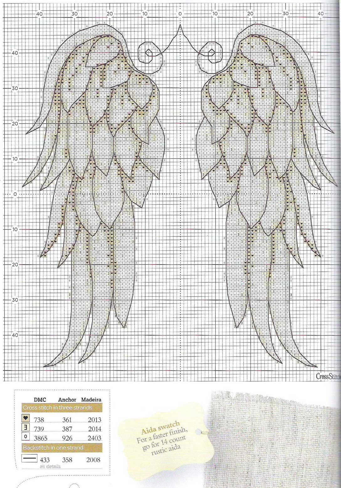 Вязание ангелы схемы крыльев