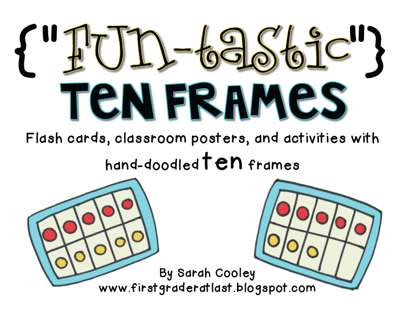 i found inspiration from my workshop doodles see my last post and created a packet full of fun tastic ten frame posters flash cards