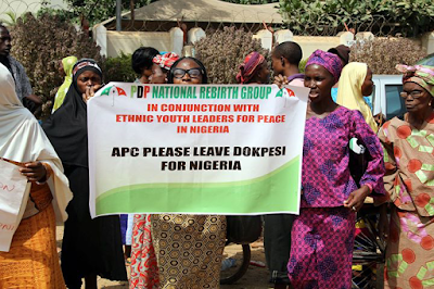 supporters protest for dokpesi in Abuja two